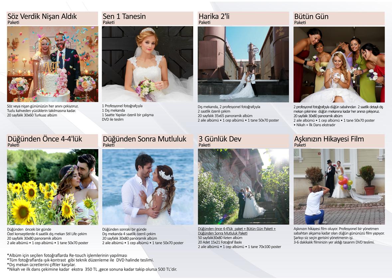 Düğün Fotoğraf çekimi paketleri